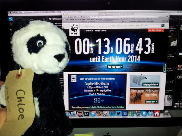 My @wwf_uk #passthepanda gets excited about travelling to London for the Earth Hour event on the South Bank tonight!! http://t.co/5OqIWTEea0