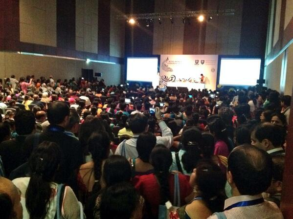 Standing room only for Prof Lesley Regan's keynote on bleeding in pregnancy and recurrent pregnancy loss at #rcog2014 http://t.co/nv4LOiBlpf