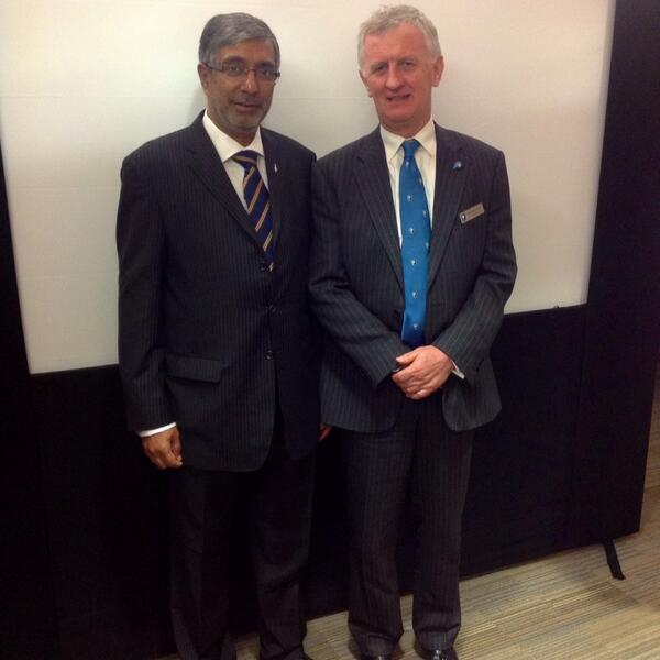 RCOG President with this year's Fellow ad eundem, Professor Matthew Mathai of India #rcog2014 http://t.co/TNbmEJQoxO