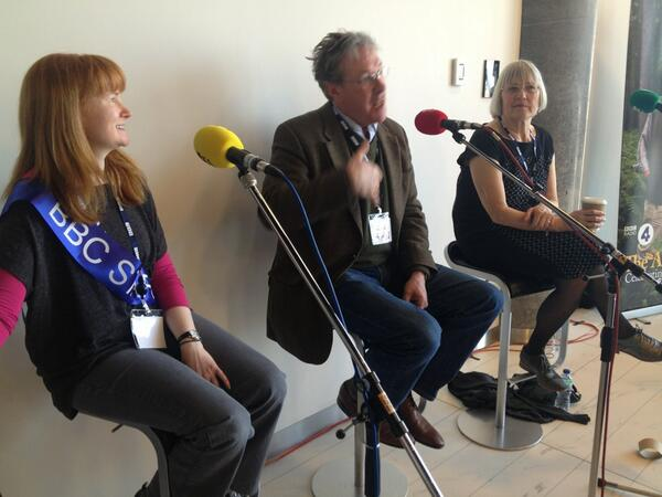 On the panel: Lisa Wallis (sound engineer), Tim Bentinck (David Archer), Mary Cutler (writer). #CharacterInvasion http://t.co/Cb50qcsccY