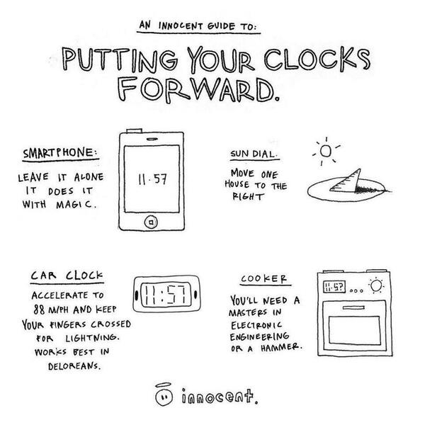 Easy guide to putting clocks forward... RT http://t.co/glsIKdFnV6