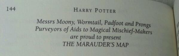 Ah, the Marauder's Map. One of my favourite magical items. #HPreread http://t.co/iMoHzkJxHv