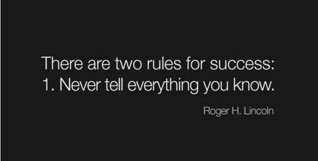 Twitter / zaibatsu: There are 2 rules for success ...