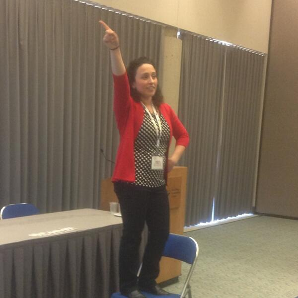 Disco diagonal Dancing with @campbellartsoup  and connecting Dawson's creek to art. #naea14 http://t.co/P2qafqpYVC