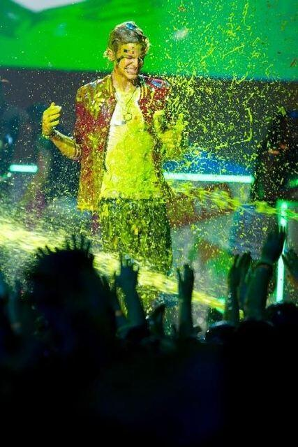Did Cody forget he got slimed at Australian KCAs?? Lol http://t.co/P7IJe7DDb2
