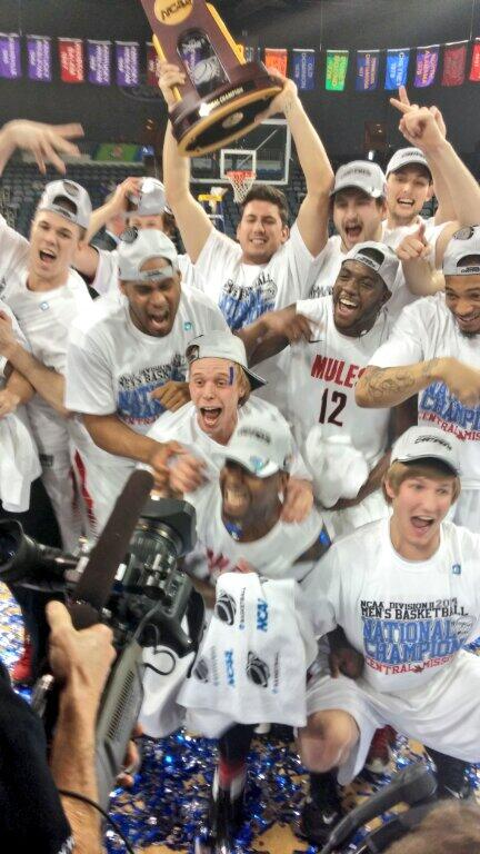 Congrats to @UCMMULES Men's Basketball. 2014 National Champs! http://t.co/6v5XcbETPZ