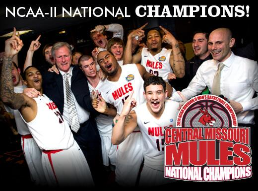 What a win #teamUCM! You can feel the #MulePride from Evansville to Warrensburg. Mules are National Champions! http://t.co/D5iNPNHdn7