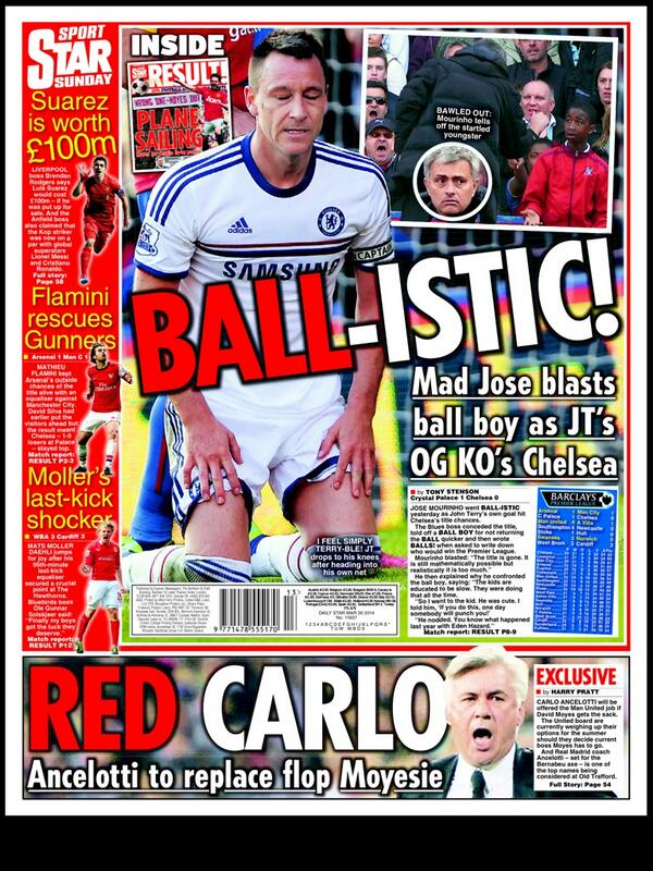 Real Madrids Carlo Ancelotti is being lined up to replace David Moyes at Man United [Sunday Star]