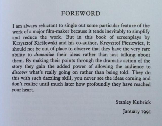 Twitter / FilmHistoryPics: Stanley Kubrick described 'The ...