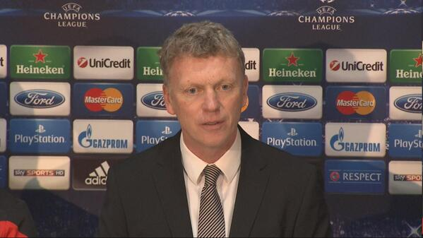 The best tweets as Man Uniteds David Moyes faced the media in his pre Olympiakos presser