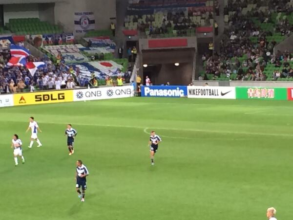 "Chant of the night at Melb Victory v Yokohama to their silent fans: ""you only sing when you're whaling"" #gomvfc http://t.co/nwrX8CX5kz"