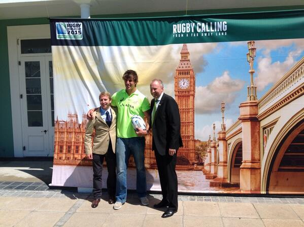 Eben Etzebeth was a very popular guest at @sarugbytravel launch of #RWC2015 travel packages!@flysaa @VandAWaterfront