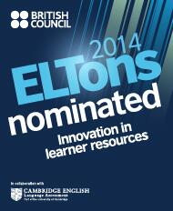 Over the moon to be nominated for an ELTons award for Innovation in Learner Resources #2014eltons #eltons #eltons2014 http://t.co/mOrcp0unhZ