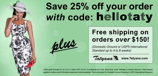 We are excited to welcome and introduce http://t.co/BvWknq8SGK! Receive 25% OFF with code: HELLOTATY! http://t.co/8VF1YU6Anm