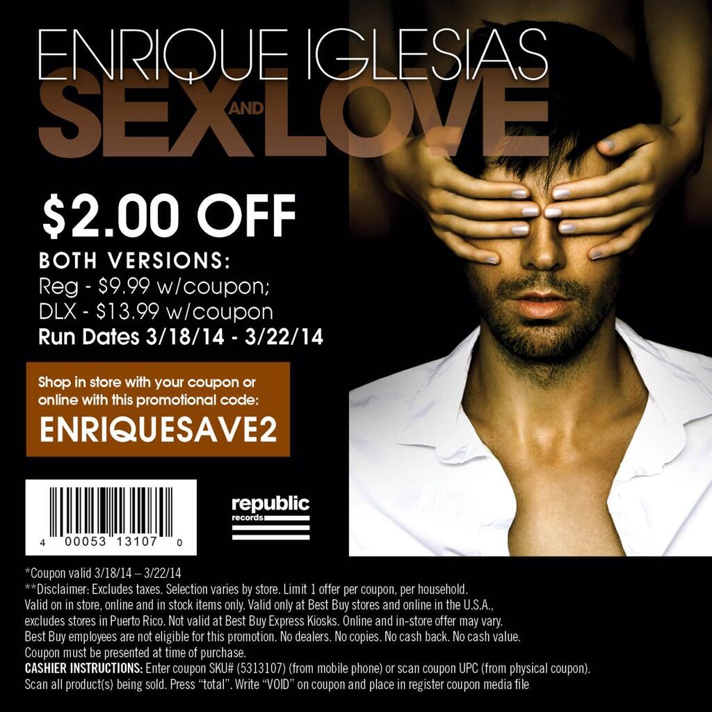 enrique iglesias sex and love target edition in Minnesota