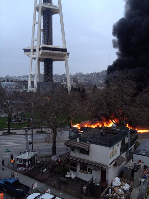 92bbae59b0c2 This photo shows how close the crash was to the Space Needle.