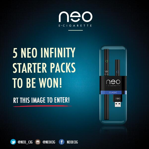 Twitter / Neo_Cig: 5 Neo Infinity's to be won, ...