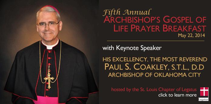 Legatus Gospel of Life Prayer Breakfast 2014