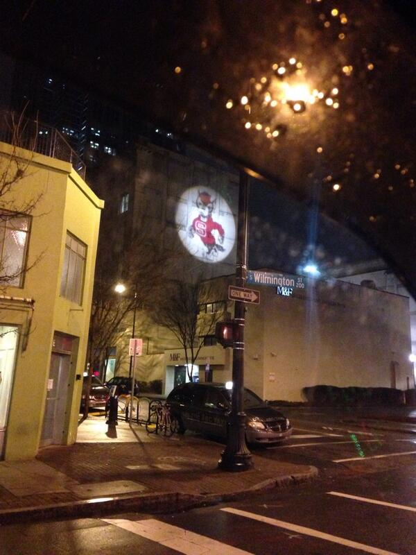 Spotted in @DowntownRaleigh...  #Wolfpack #NCSU http://t.co/pQaOoJR6Ny