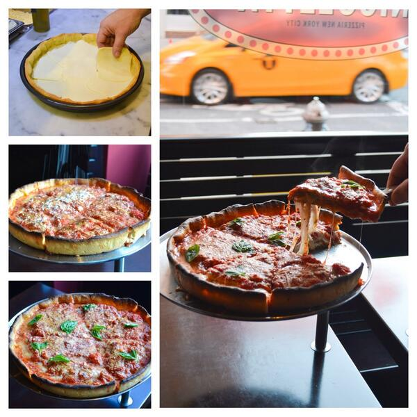 Chicago Style Deep Dish Pizza all week long @NicolettaNYC #eaterpizzaweek http://t.co/sgtA9usyOD