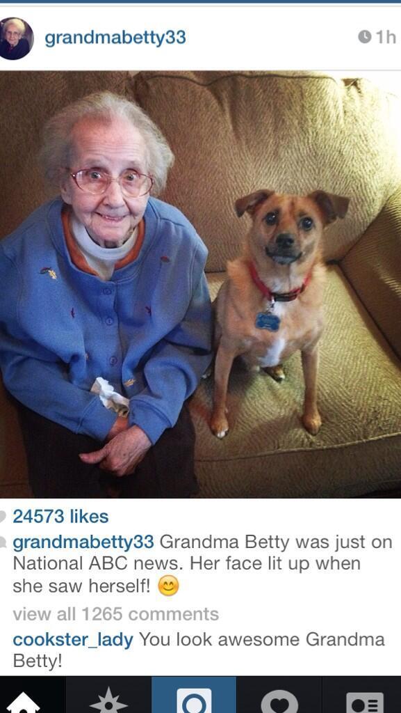 Yes, she was! Check out Grandma Betty's @ABCWorldNews debut: http://t.co/SrUECzFsdu http://t.co/xSIrZXPSft