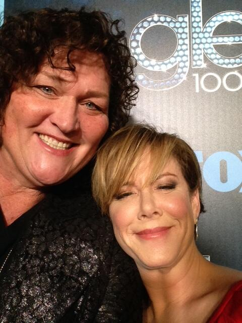 Hanging with my lady @dotmariejones & having a blast at Glee 100th episode party.  She sure is purdy. Love that woman http://t.co/bHMo0UZ2A2