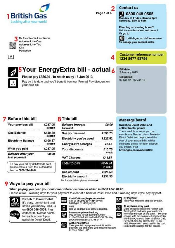 British Gas Bill Pdf