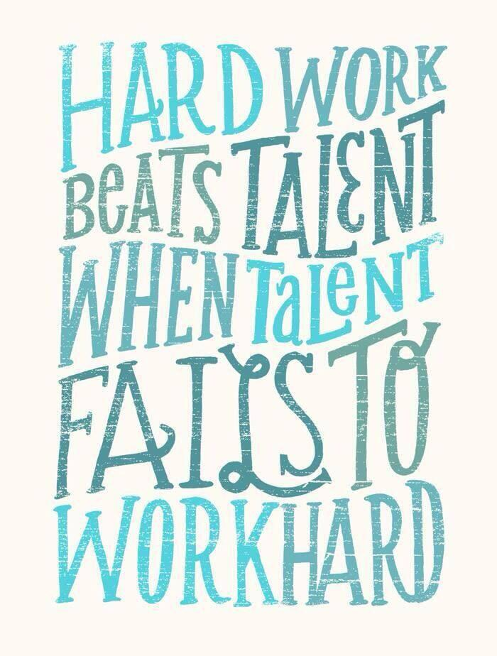 Twitter / JoyAndLife: Hard work beats talent when ...