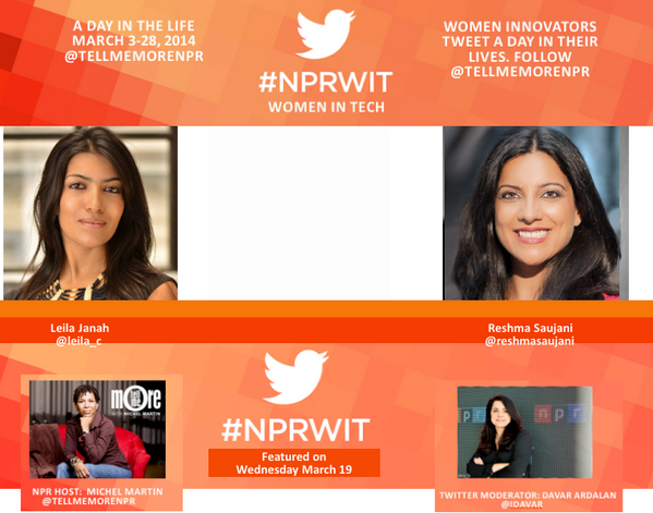 Thumbnail for #NPRWIT March 19: Reshma Saujani & Leila Janah