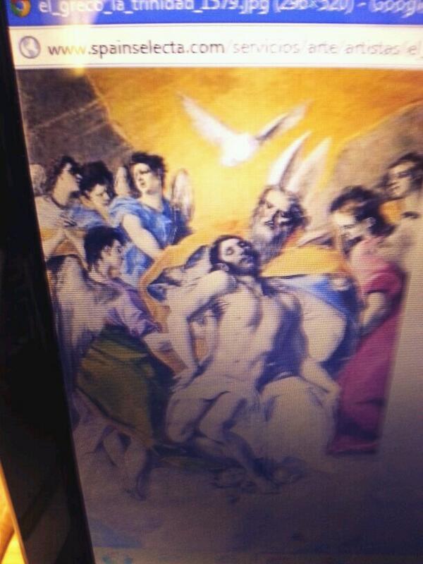 """Vamos a extraer la paloma del cuadro de """"La Trinidad"""" del Greco #quenipintado #colegiobase #Greco2014 http://t.co/dke8wfQYdo"""