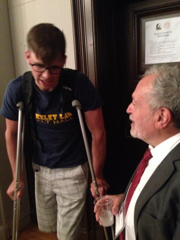 #NEW: spotted! @RBReich in attendance of @SenRandPaul speech @BerkeleyForum What should he ask the KY Jr. Sen? http://t.co/SRyFykIzd5