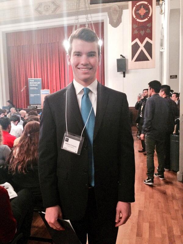 Matthew Freeman, UC Berkeley freshman, will be the event's moderator #RandatBerkeley #berkeleyforum http://t.co/WFyv4SXjZE