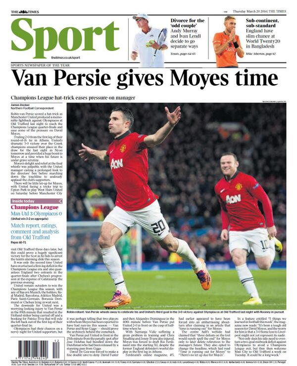 BjH9IAKCIAAX3cR Saviour Robin van Persie keeps David Moyes his Man United job, for now [Thursdays Paper Pictures]
