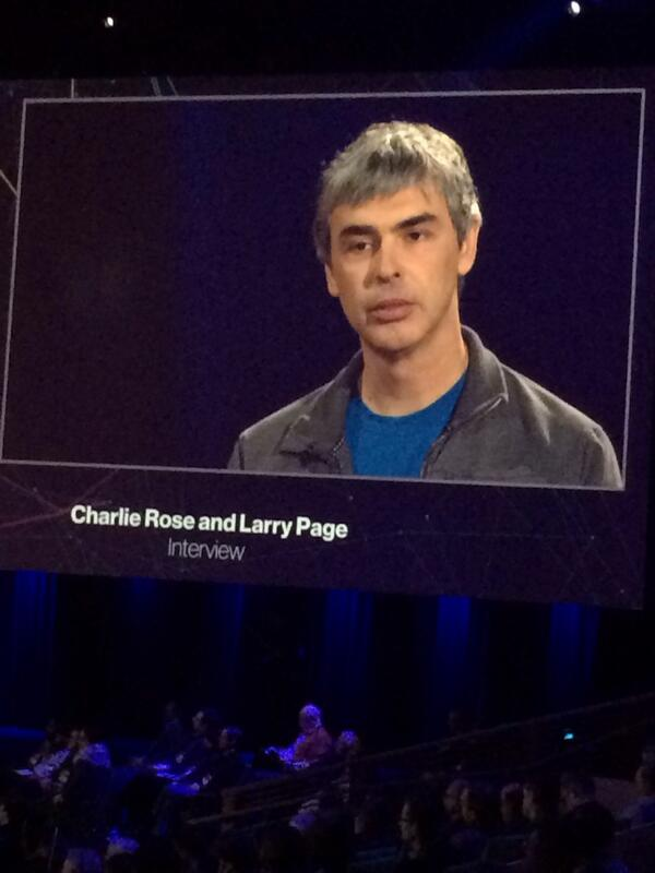 Larry Page on stage at #TED2014 - brilliant, humble, inspiring. Google is lucky to have him back at the helm. http://t.co/z5wpuERhfd