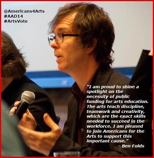 @BenFolds fights4 #ArtsEd funding..make YOUR voice heard w/@Americans4Arts @ #AAD14 3/24-25! http://t.co/5wYaCbDF1W http://t.co/YZTTr1lQvh