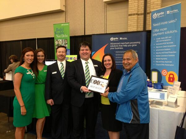 Thank you for voting us 2nd place best booth #expocha @FDISChattanooga @AshNadia @CHAchamber @FirstData @CloverPOS http://t.co/CCoO10OVKp