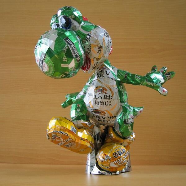 Recycled Art - Tin Can Sculptures