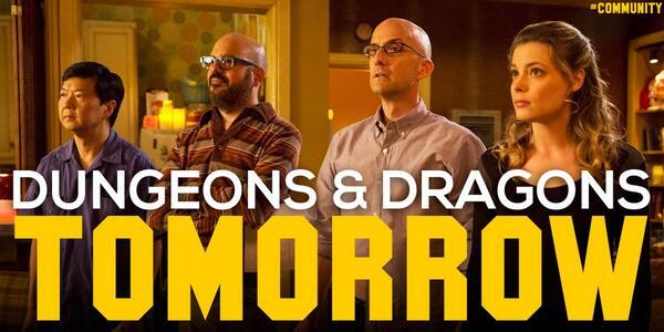 Have you gotten your sequelitis shot yet? D&D 2 tomorrow. #Community http://t.co/3S4IVQ7MQu
