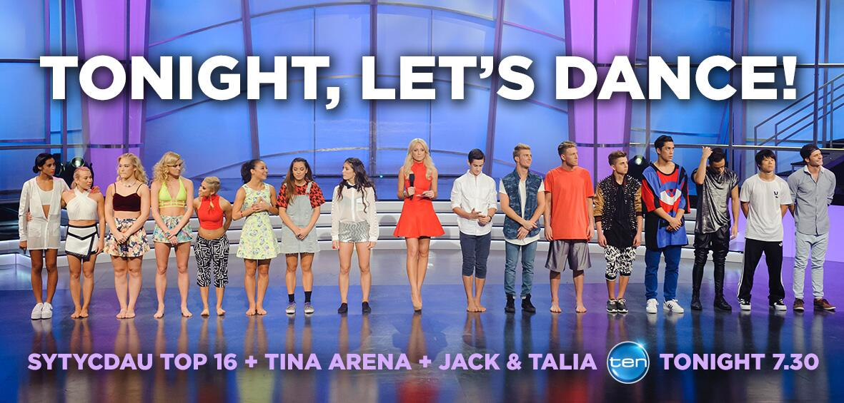 RT @SYTYCDAU: TONIGHT 7.30: Get ready to dance! Your #SYTYCDAU Top 16 + @TinaArena + winners Jack & Talia! RT if you'll be watching http://…
