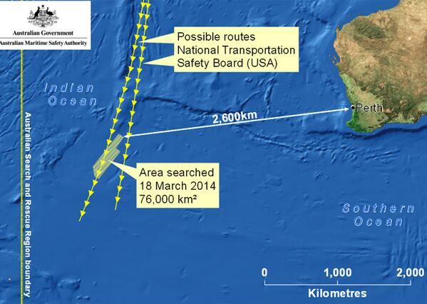 #AMSA press conference: Possible #MH370 debris was spotted 2500km southwest of Perth http://t.co/OFxQ6SW3mC http://t.co/oJDR6tMB45