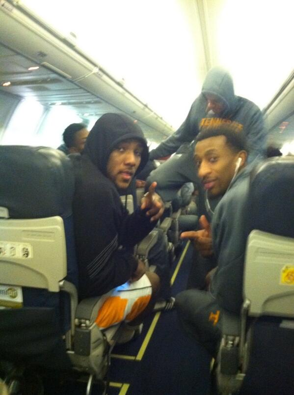 JMac and JMay ready for the plane trip to Raliegh, NC!! Go Vols!!!! To God Be The Glory!!! http://t.co/2Iflp1PwQr