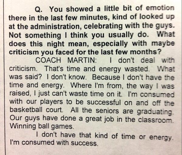 "#Vols coach Cuonzo Martin on ""The Criticism"" http://t.co/sDVqcKWVr5"