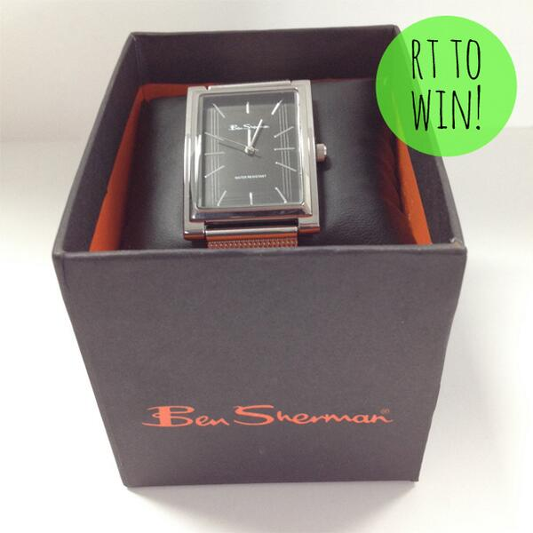 To celebrate http://t.co/g9wncFfdog, this Men's Ben Sherman watch is up for grabs! RT TO WIN before 4pm #WinWithNext http://t.co/saYZDF6vnz