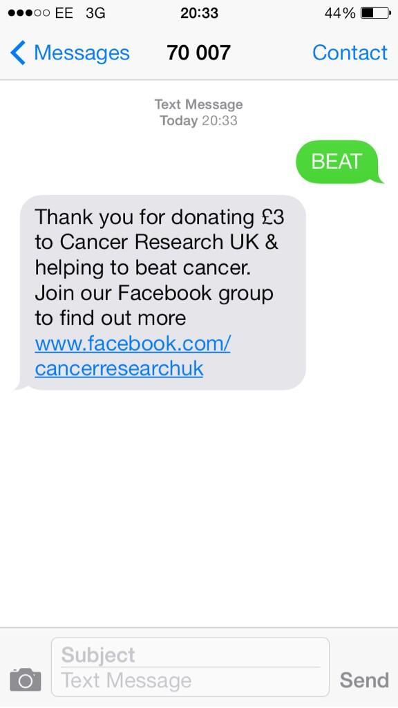 My donation! Let's beat cancer together