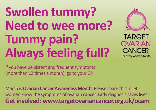 Nhs 24 On Twitter March Is Ovarian Cancer Awareness Month Targetovarian Http T Co K0wi2aefpq
