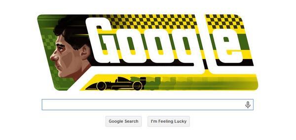 Me encanta el doodle con el que Google celebrará mañana el 54 cumpleaños del gran Ayrton #Senna: http://t.co/T2TiaIzopa (Foto vía @wtf1couk)
