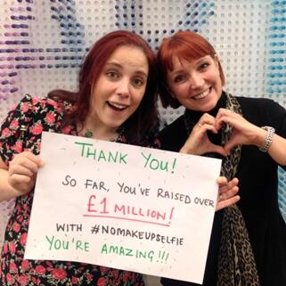 Thank you! Together your #nomakeupselfie pics have so far raised over £1m to help #beatcancersooner. You're amazing! http://t.co/CN18rVOaom