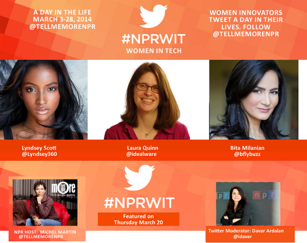 Thumbnail for #NPRWIT March 20: Laura Quinn, Lyndsey Scott, & Bita Milanian