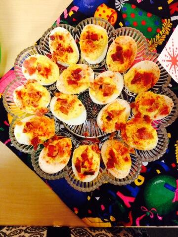 Celebrating #Dson2018 and Dean Balmer with bacon deviled eggs. #nom http://t.co/h957q5fZ86