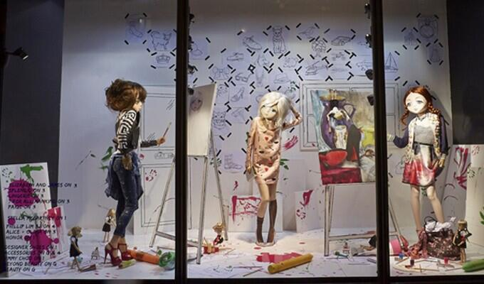 Twitter / slackalicebeer: Love @HarveyNichols windows ...